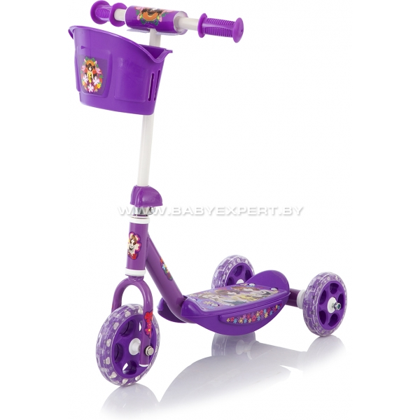 Baby Care 3 Wheel Scooter CMC008 фиолетовый
